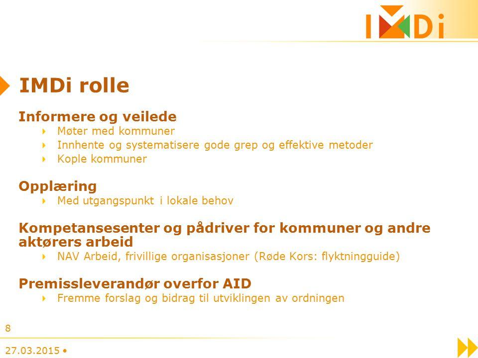 IMDi rolle Informere og veilede Opplæring