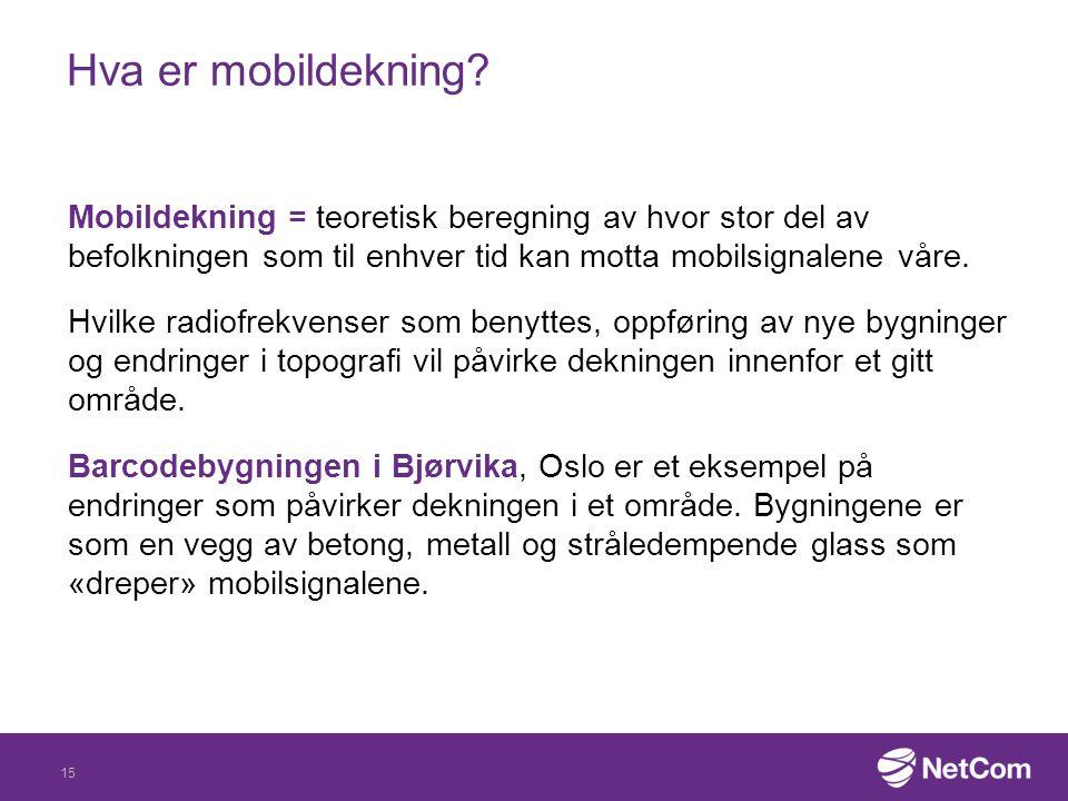 Hva er mobildekning
