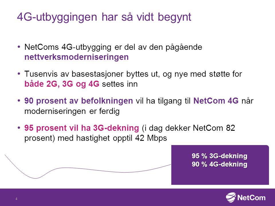 4G-utbyggingen har så vidt begynt