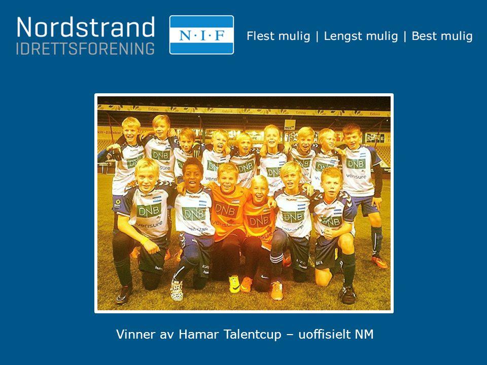 Vinner av Hamar Talentcup – uoffisielt NM
