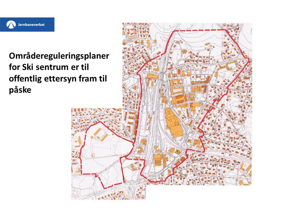 Områdereguleringsplaner for Ski sentrum er til offentlig ettersyn fram til påske