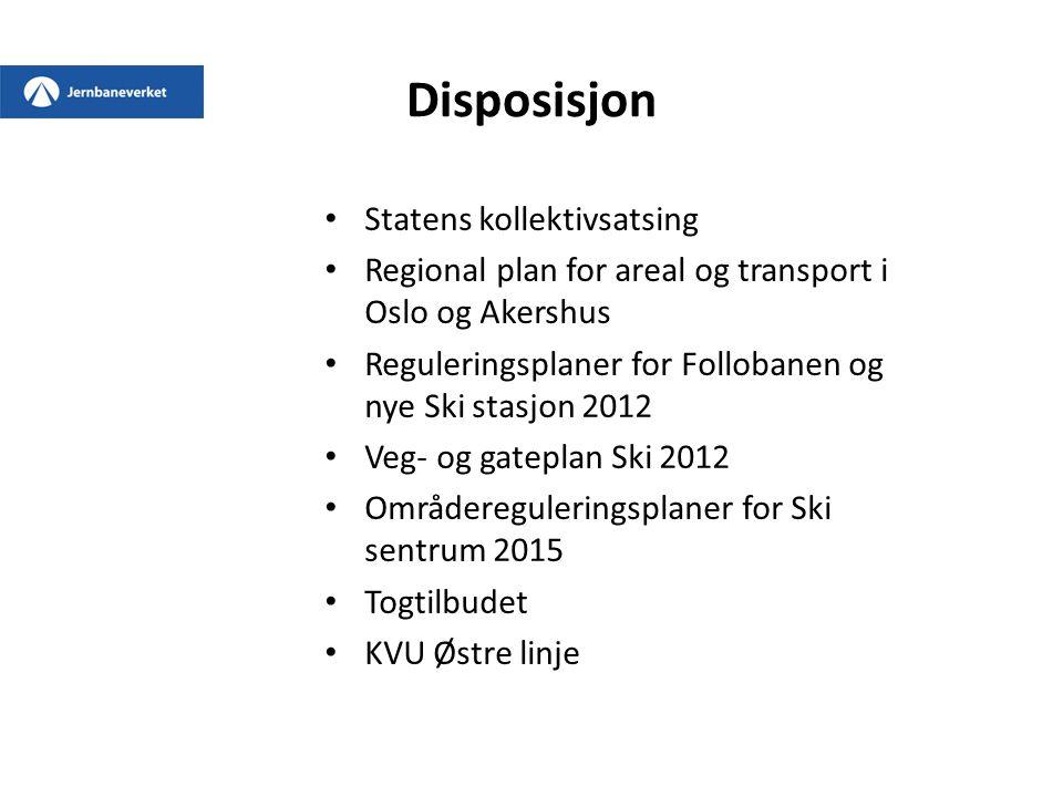 Disposisjon Statens kollektivsatsing
