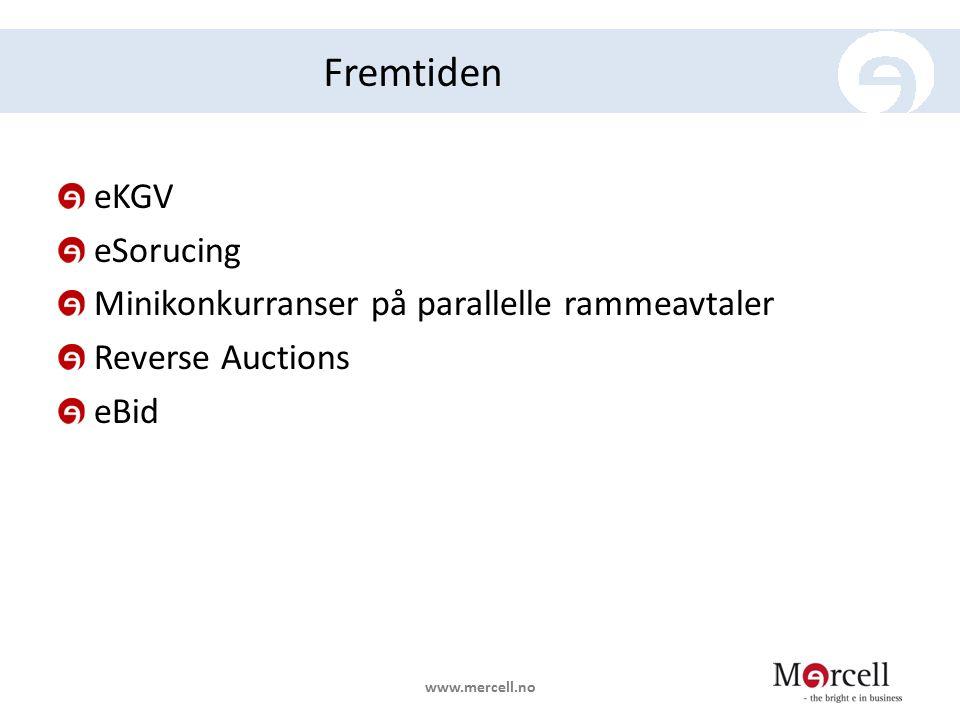 Fremtiden eKGV eSorucing Minikonkurranser på parallelle rammeavtaler