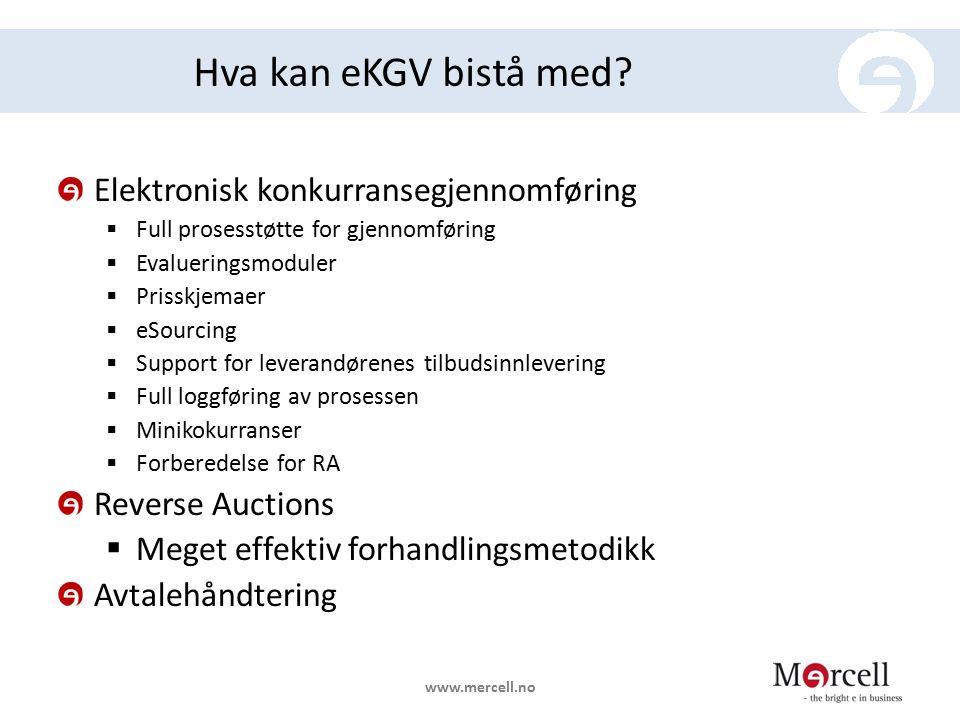 Hva kan eKGV bistå med Elektronisk konkurransegjennomføring