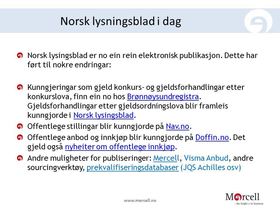 Norsk lysningsblad i dag
