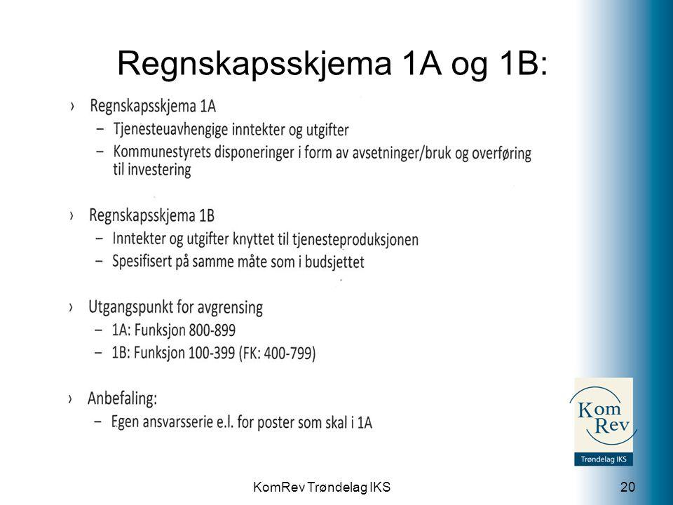 Regnskapsskjema 1A og 1B: