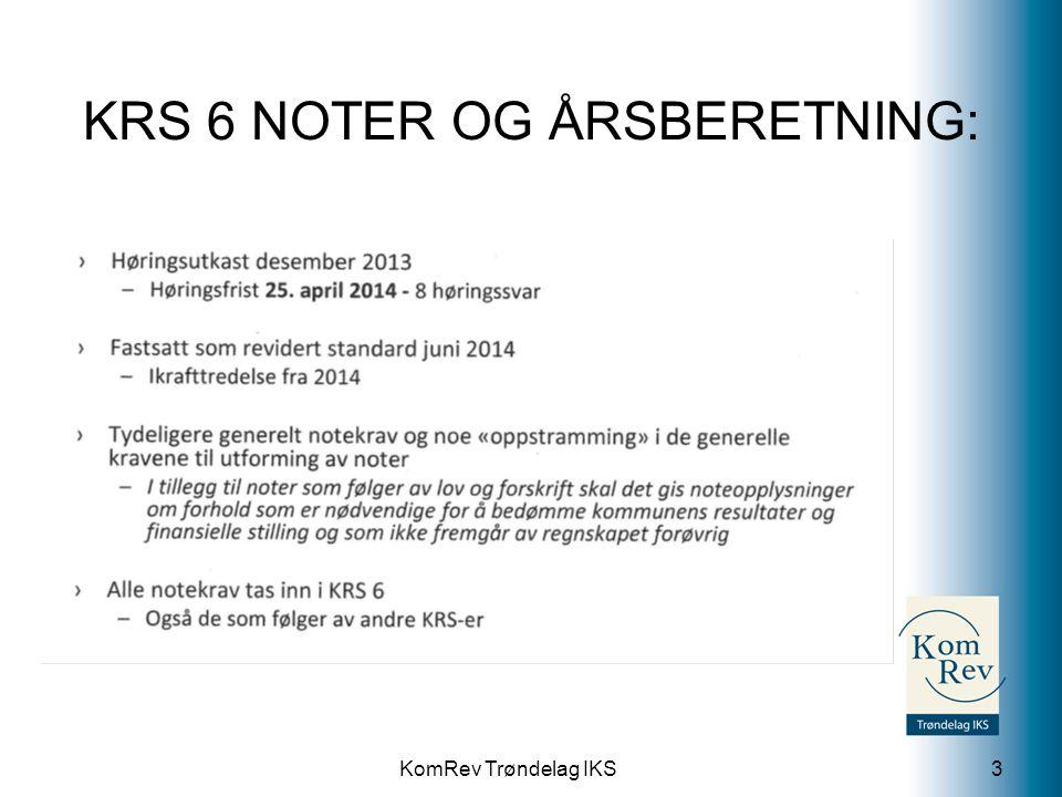 KRS 6 NOTER OG ÅRSBERETNING: