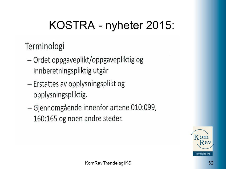 KOSTRA - nyheter 2015: 0 Lønn.