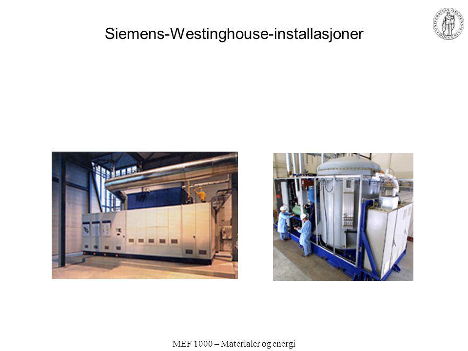 Siemens-Westinghouse-installasjoner