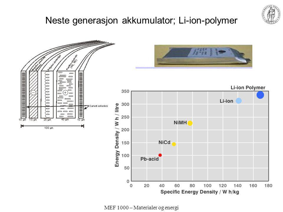 Neste generasjon akkumulator; Li-ion-polymer