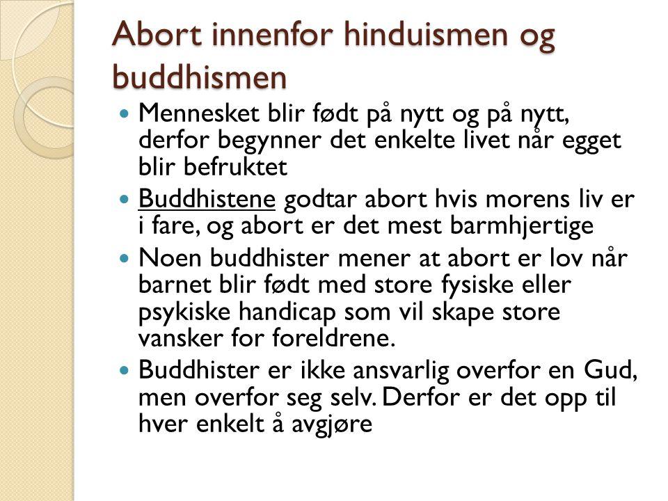 Abort innenfor hinduismen og buddhismen