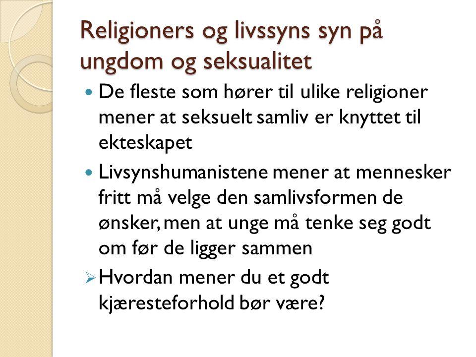 Religioners og livssyns syn på ungdom og seksualitet