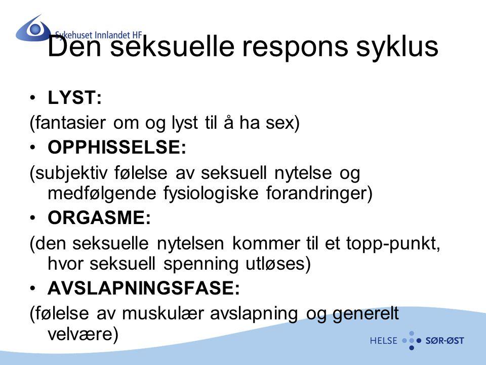 Den seksuelle respons syklus