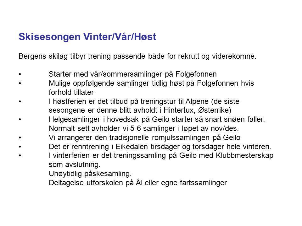 Skisesongen Vinter/Vår/Høst