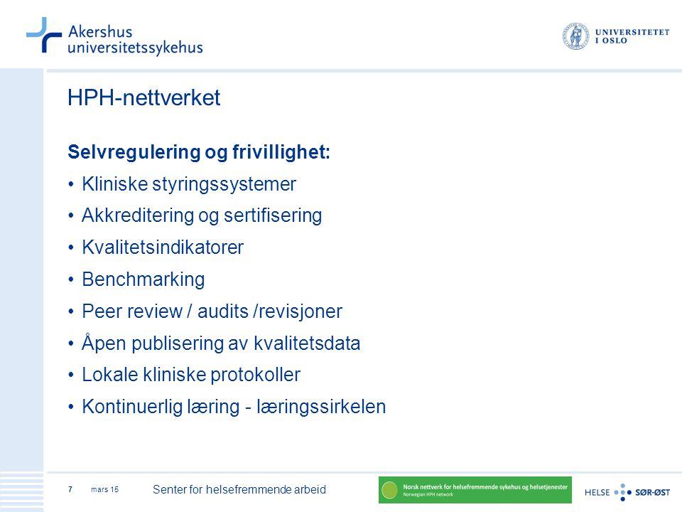 HPH-nettverket Selvregulering og frivillighet: