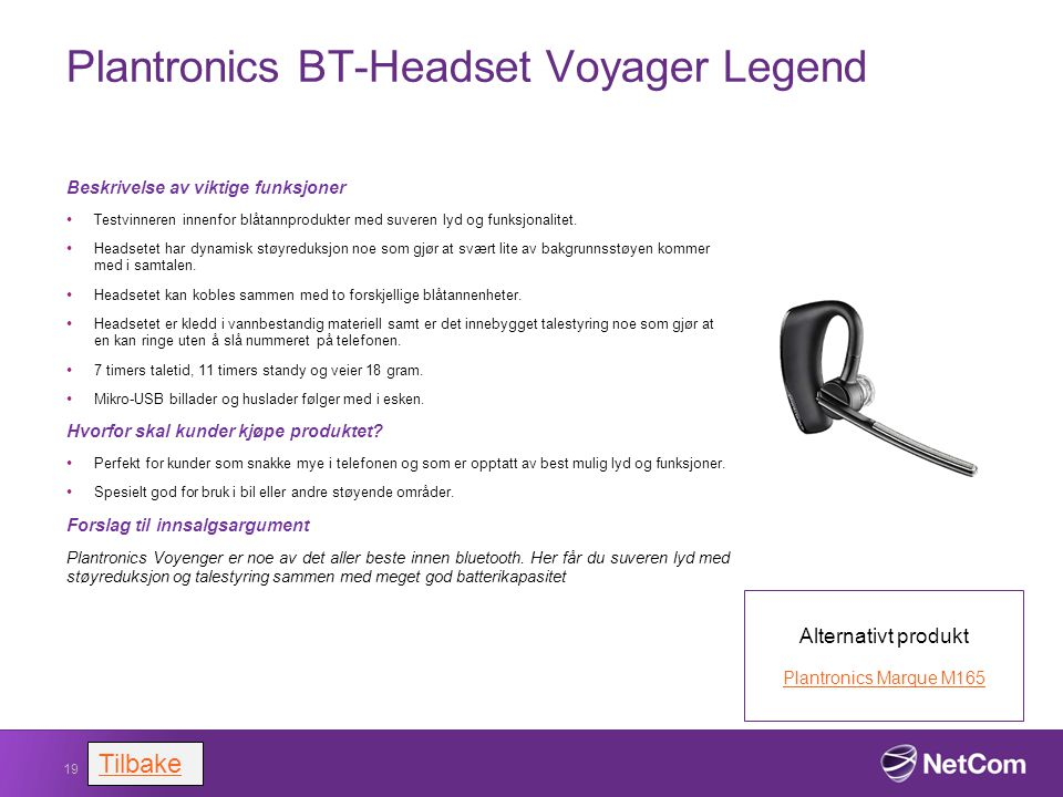 Plantronics BT-Headset Voyager Legend