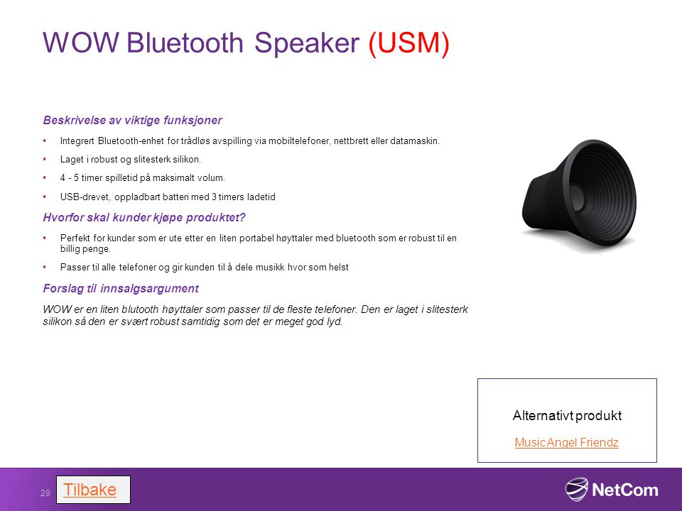 WOW Bluetooth Speaker (USM)