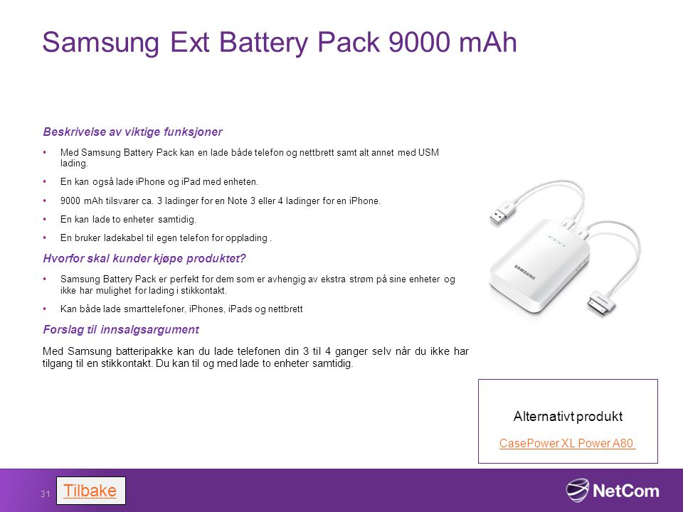 Samsung Ext Battery Pack 9000 mAh