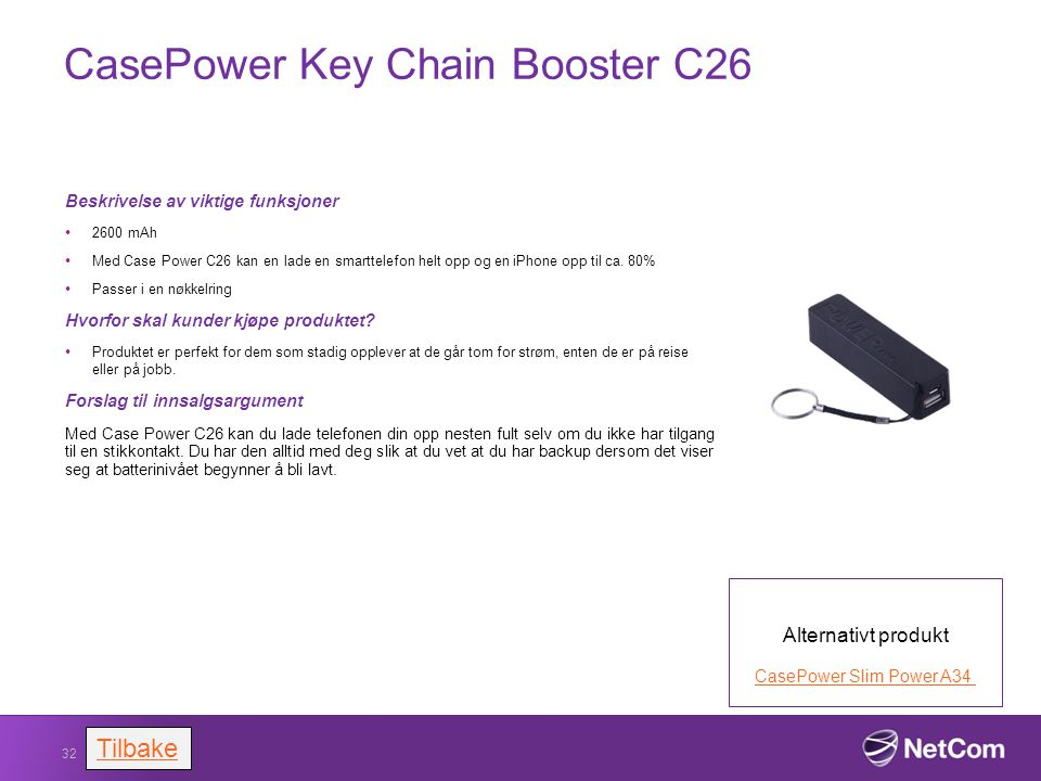 CasePower Key Chain Booster C26