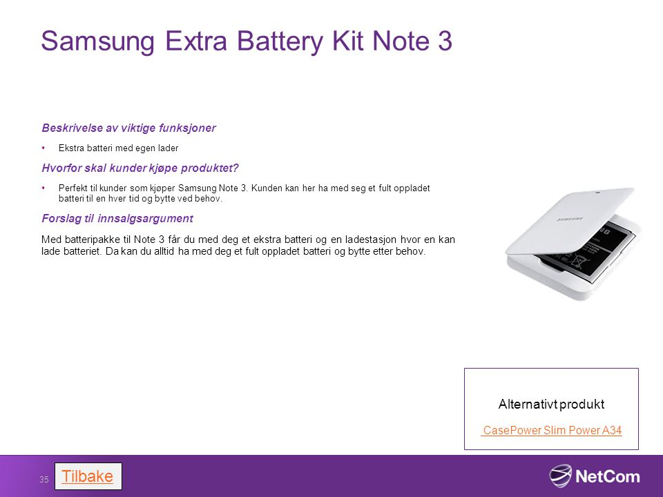 Samsung Extra Battery Kit Note 3