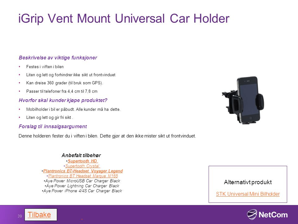iGrip Vent Mount Universal Car Holder