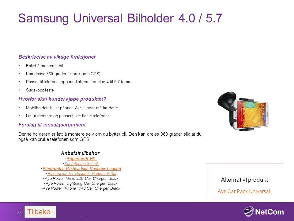Samsung Universal Bilholder 4.0 / 5.7