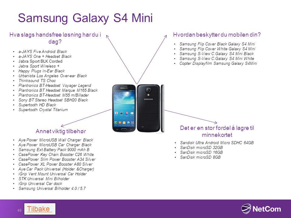 Samsung Galaxy S4 Mini Tilbake