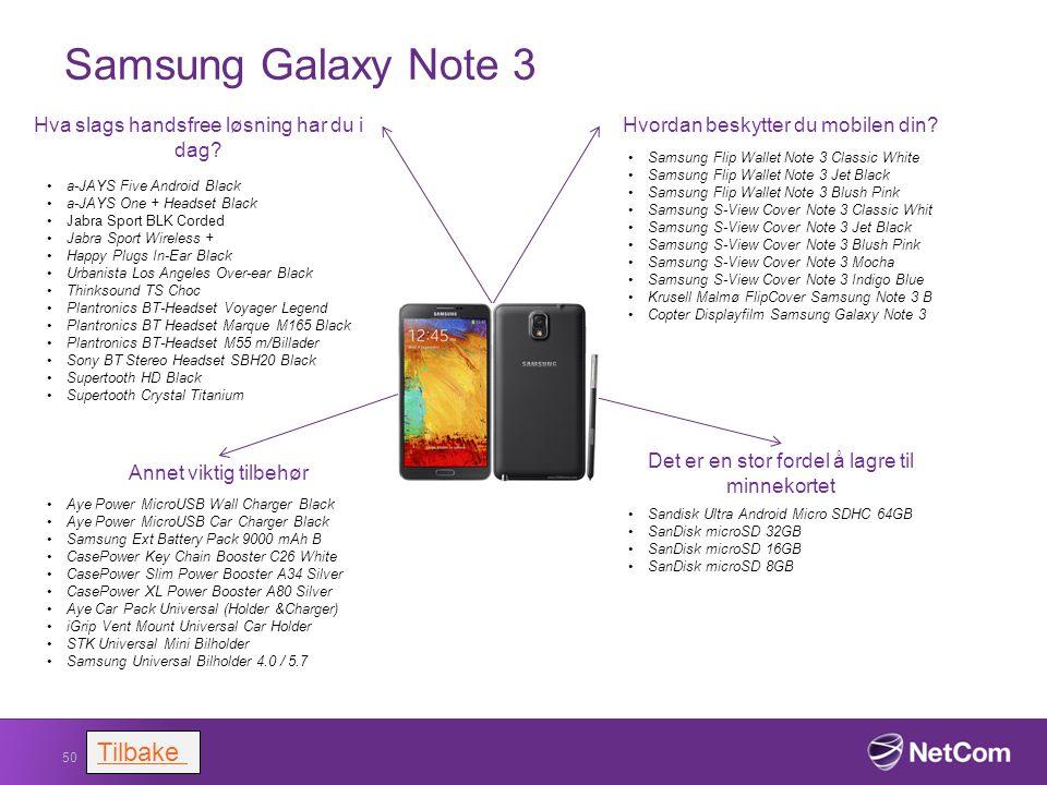 Samsung Galaxy Note 3 Tilbake