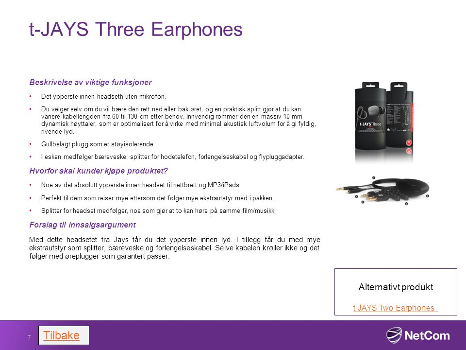t-JAYS Three Earphones