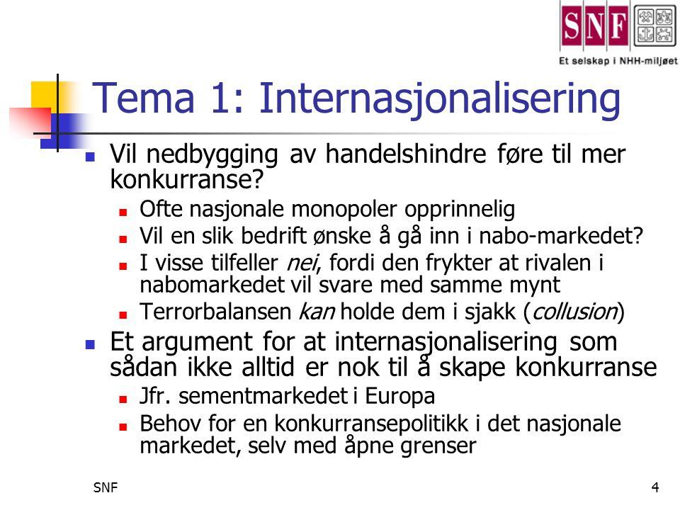 Tema 1: Internasjonalisering