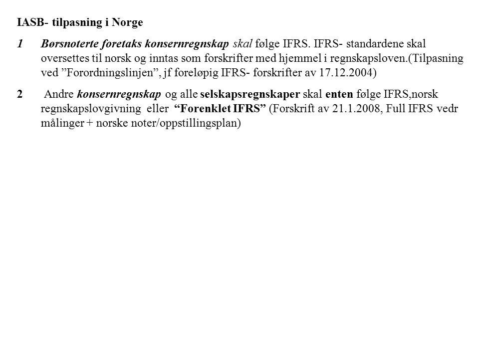 IASB- tilpasning i Norge