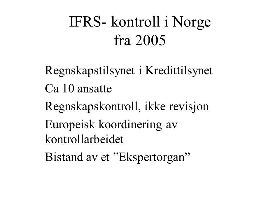 IFRS- kontroll i Norge fra 2005