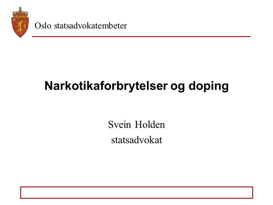Narkotikaforbrytelser og doping