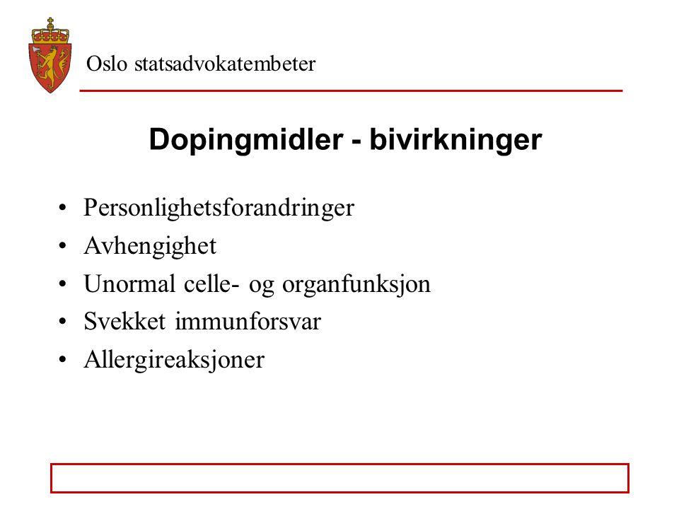Dopingmidler - bivirkninger