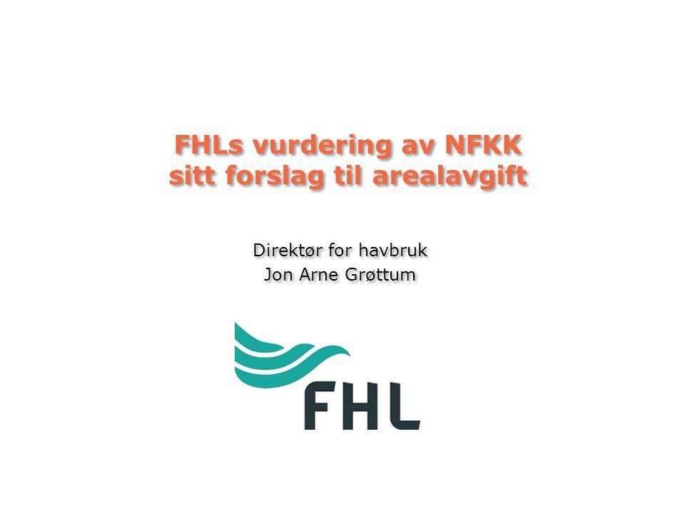 FHLs vurdering av NFKK sitt forslag til arealavgift