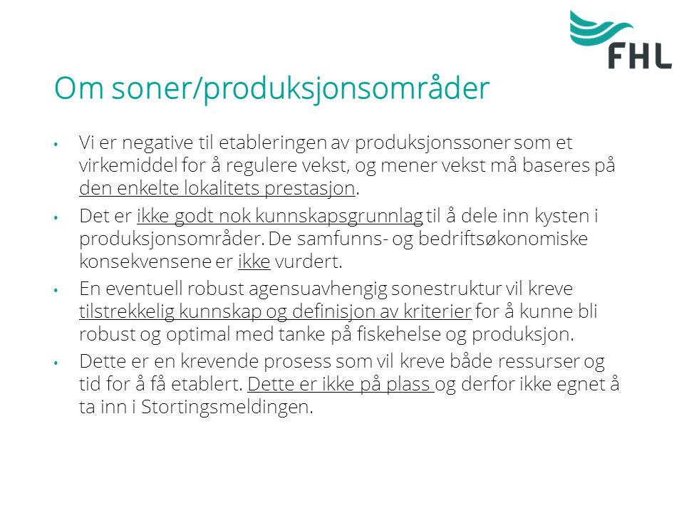 Om soner/produksjonsområder