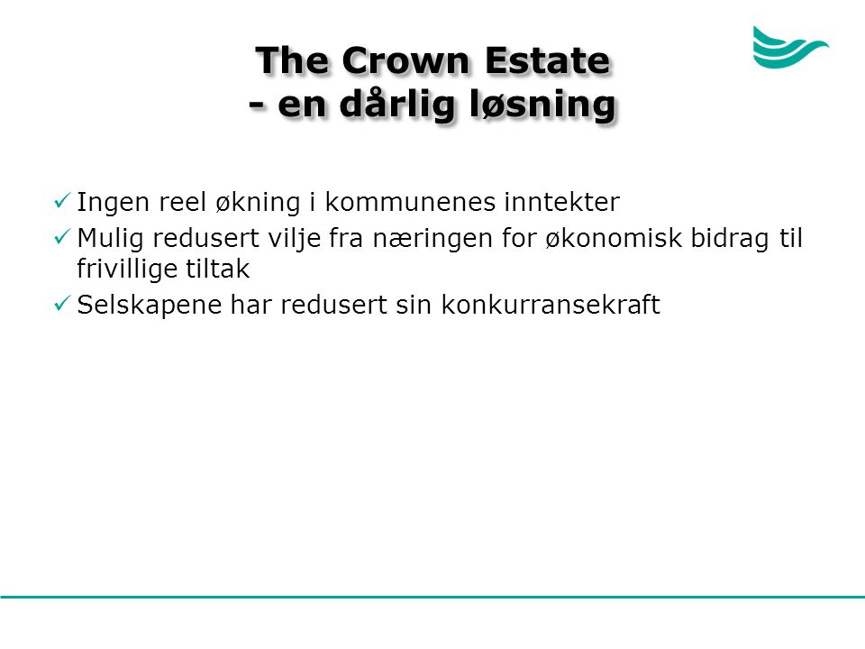 The Crown Estate - en dårlig løsning