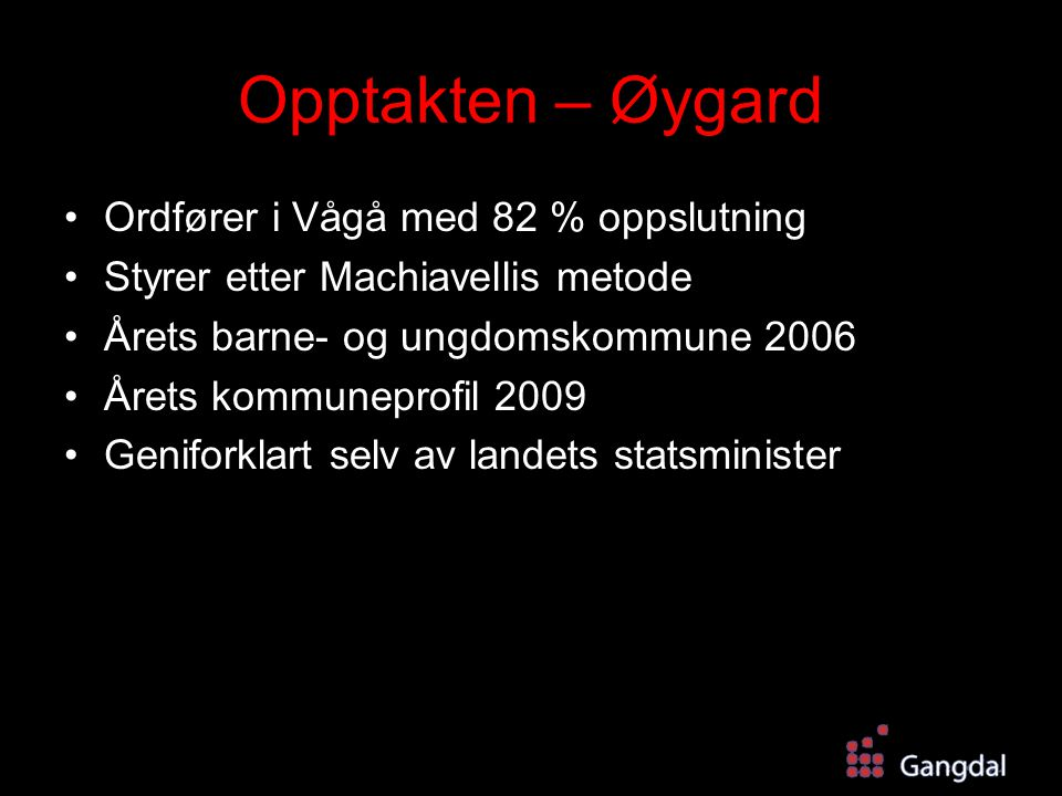 Opptakten – Øygard Ordfører i Vågå med 82 % oppslutning