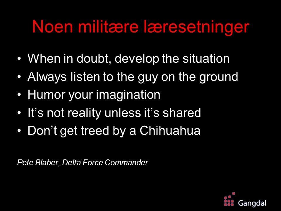 Noen militære læresetninger