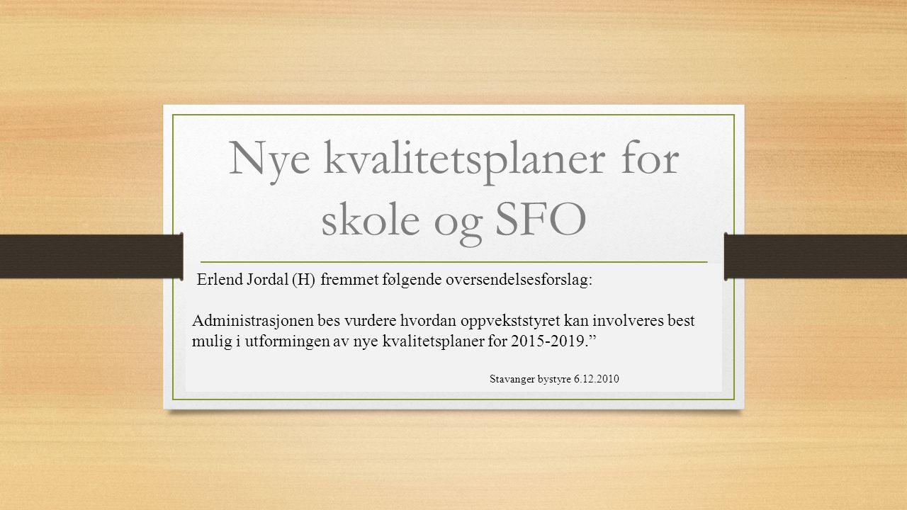 Nye kvalitetsplaner for skole og SFO