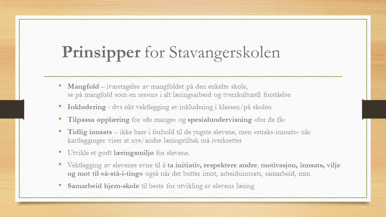 Prinsipper for Stavangerskolen