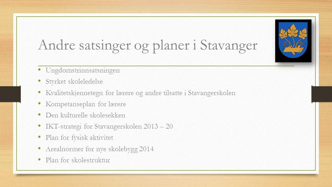 Andre satsinger og planer i Stavanger