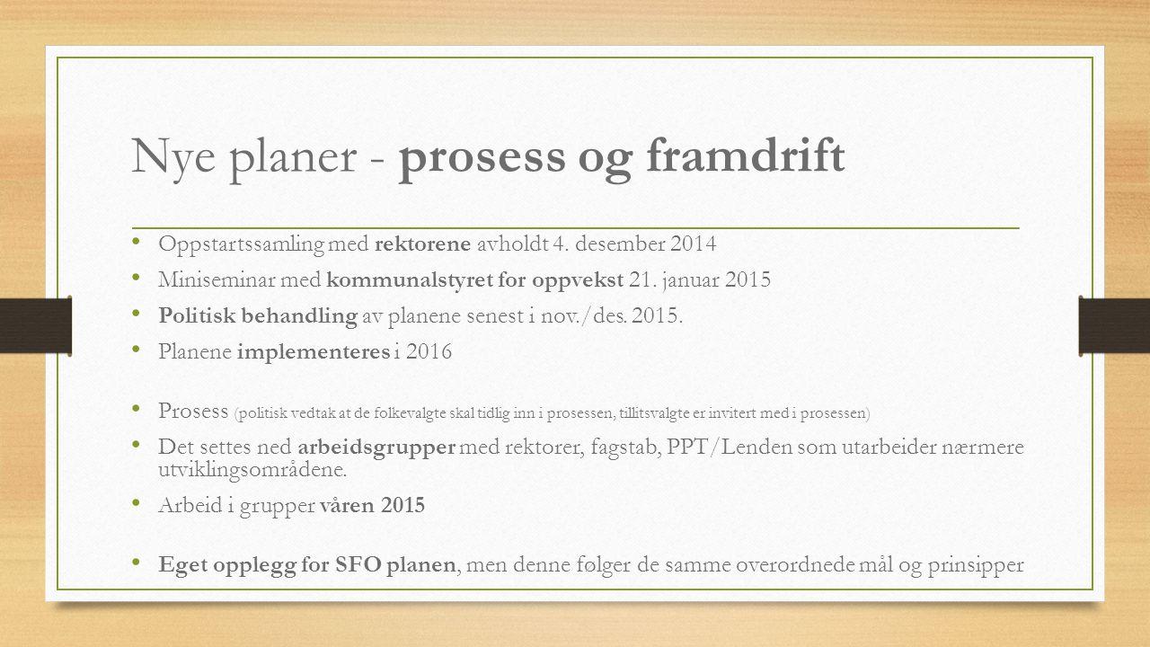 Nye planer - prosess og framdrift