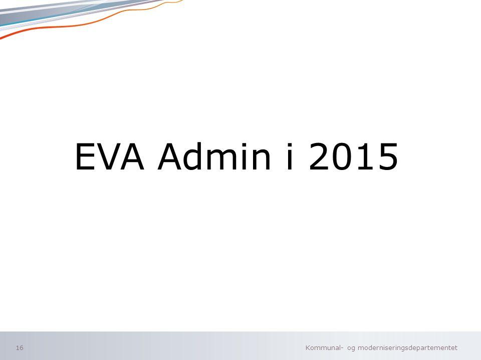 EVA Admin i 2015