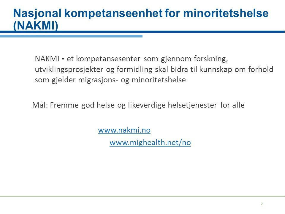 Nasjonal kompetanseenhet for minoritetshelse (NAKMI)