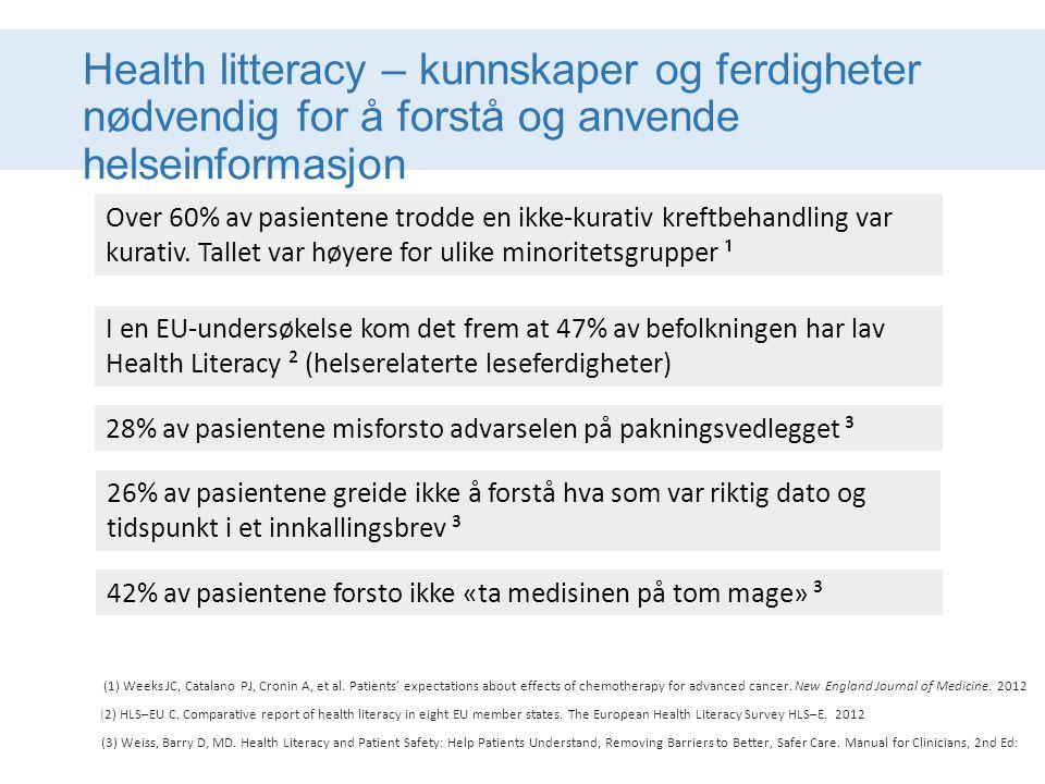 Health litteracy – kunnskaper og ferdigheter nødvendig for å forstå og anvende helseinformasjon