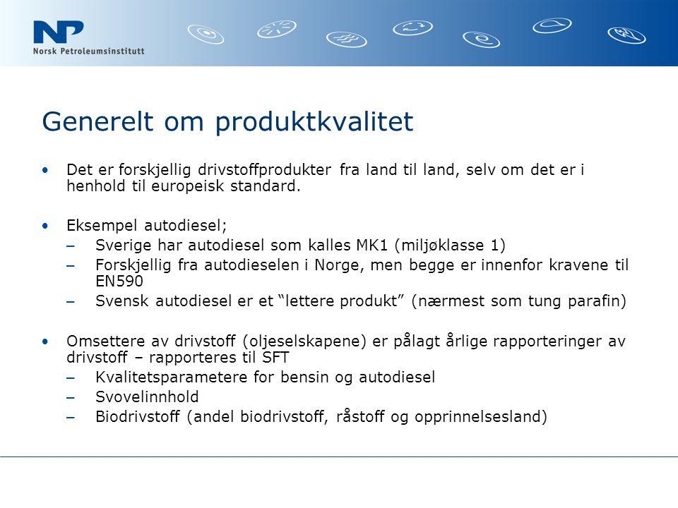 Generelt om produktkvalitet
