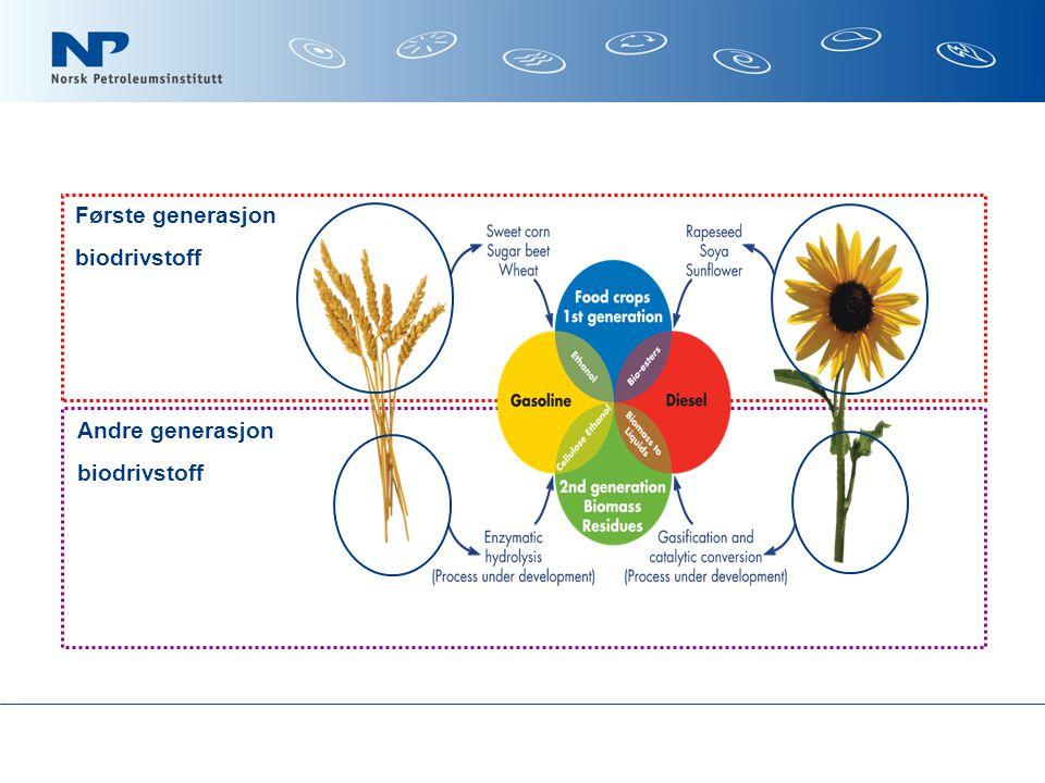 Første generasjon Andre generasjon biodrivstoff