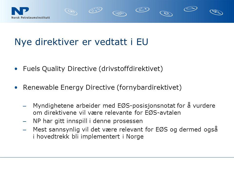 Nye direktiver er vedtatt i EU