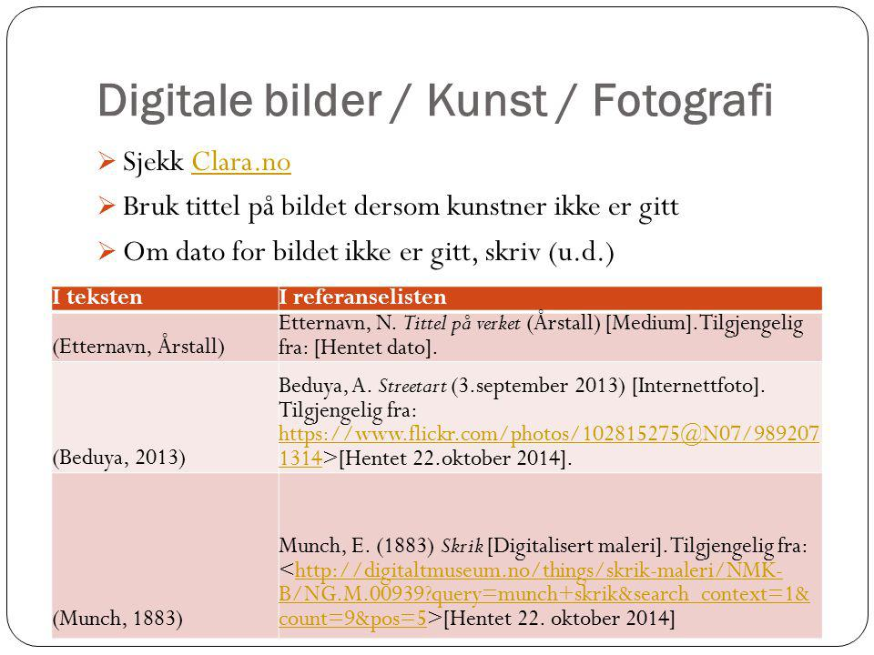 Digitale bilder / Kunst / Fotografi